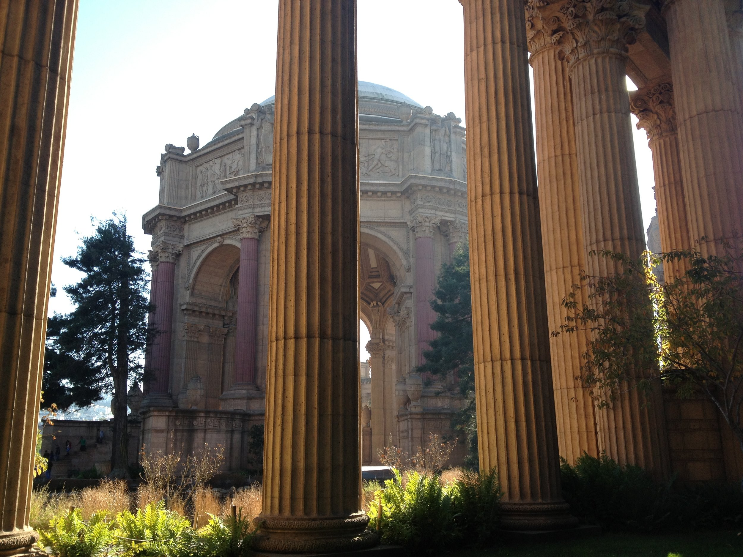 A little trip to the Palace of Fine Arts!