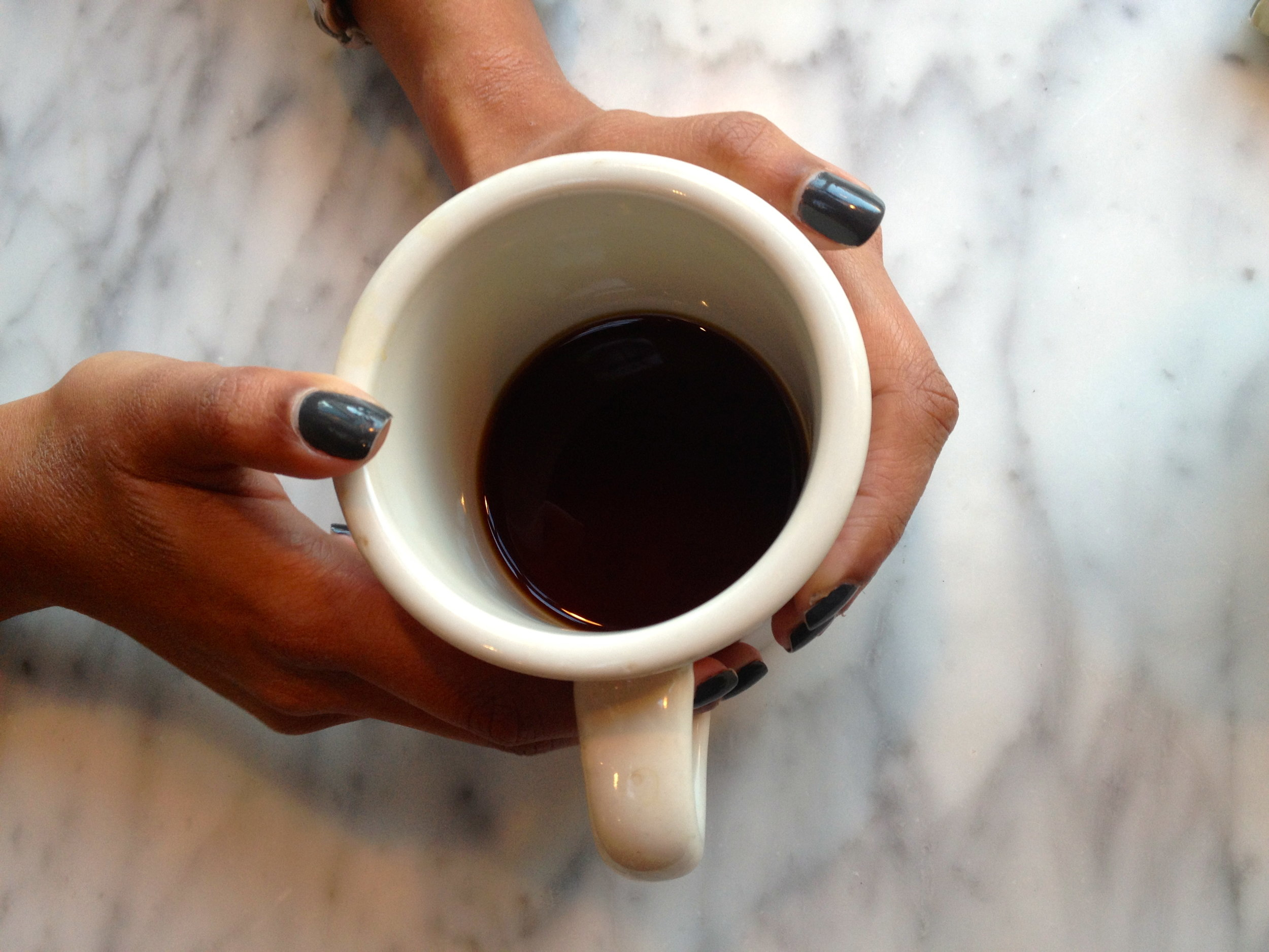 Starting the weekend off right with coffee + Shikha!