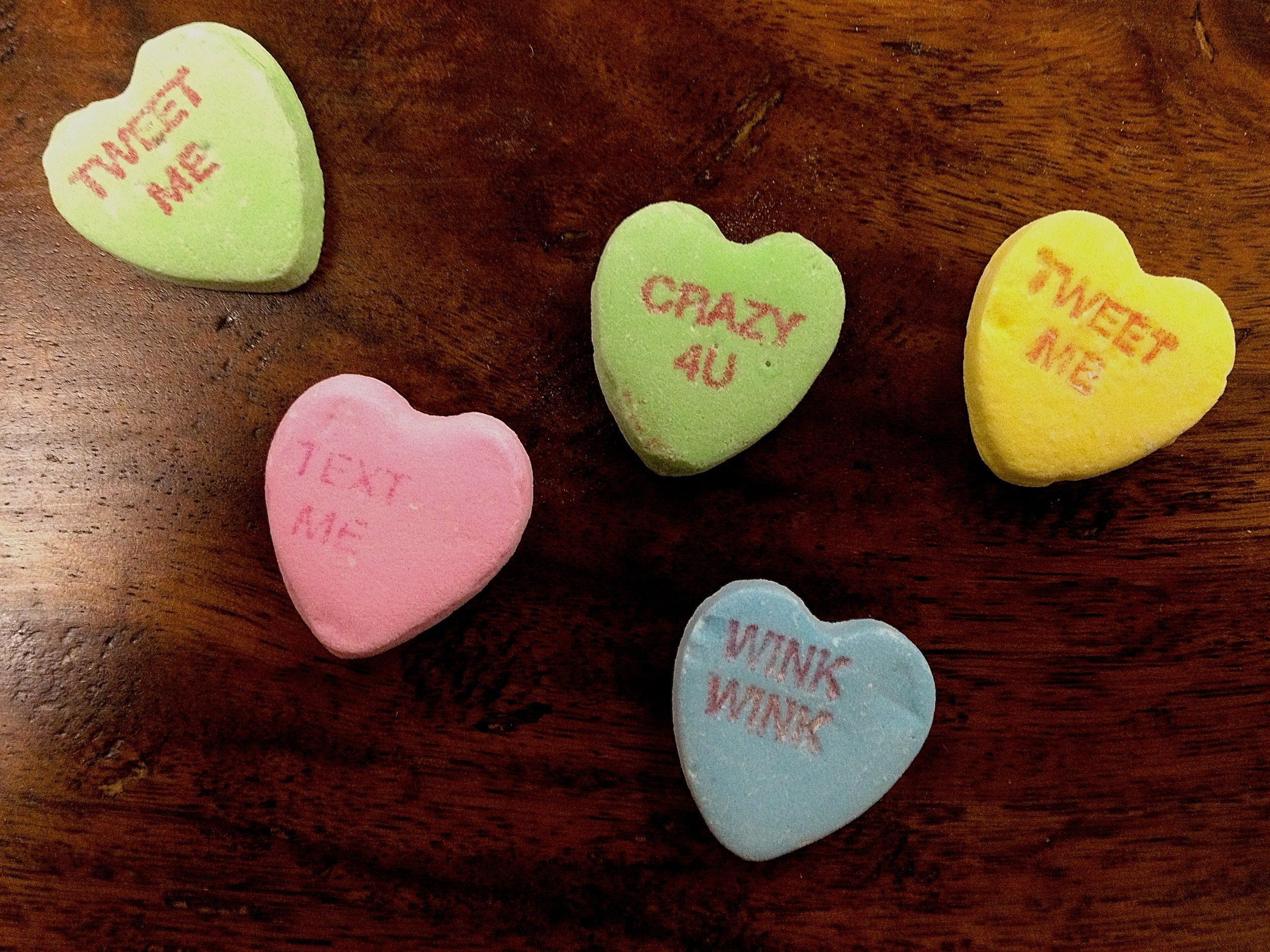 The start of Valentine's Day -- copious amounts of candy hearts.