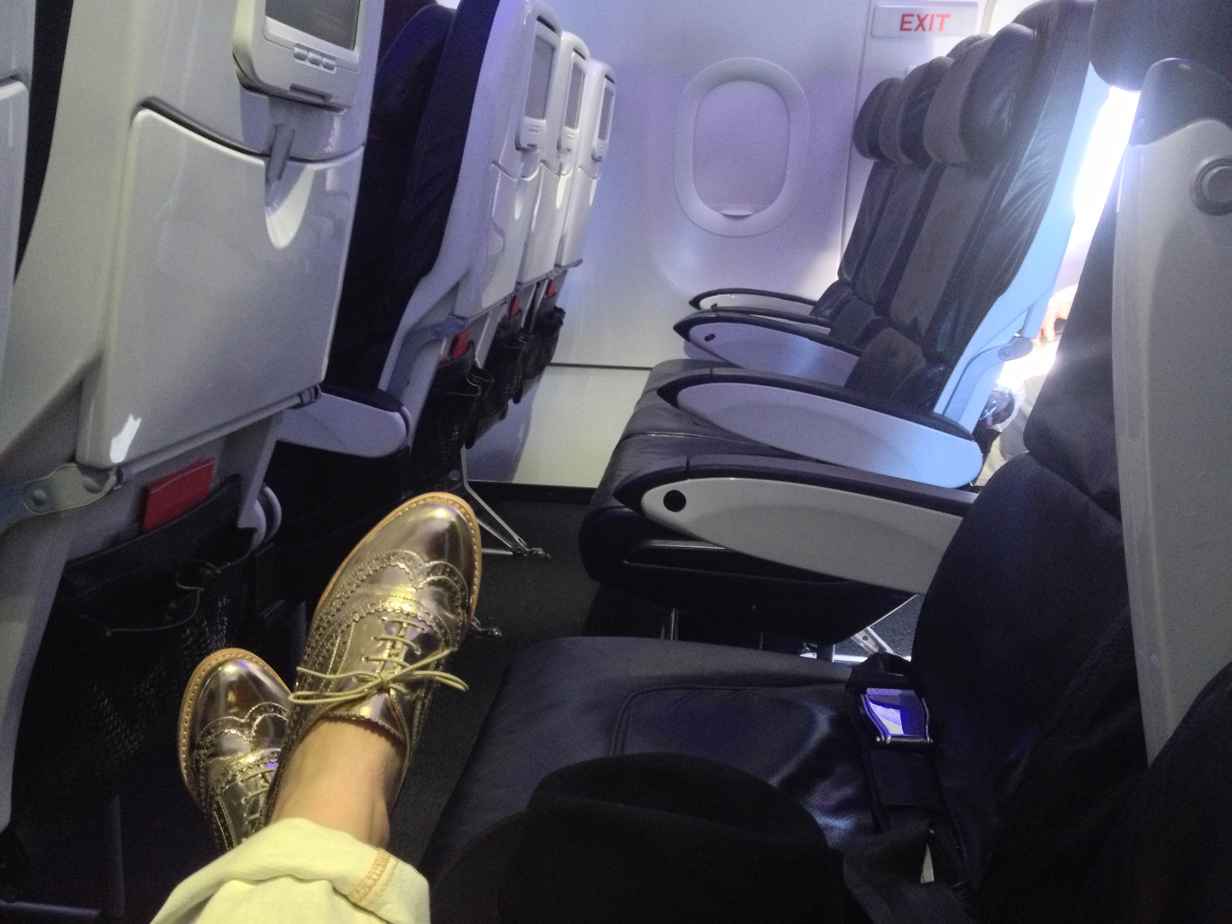 A row to myself is the biggest luxury ever.