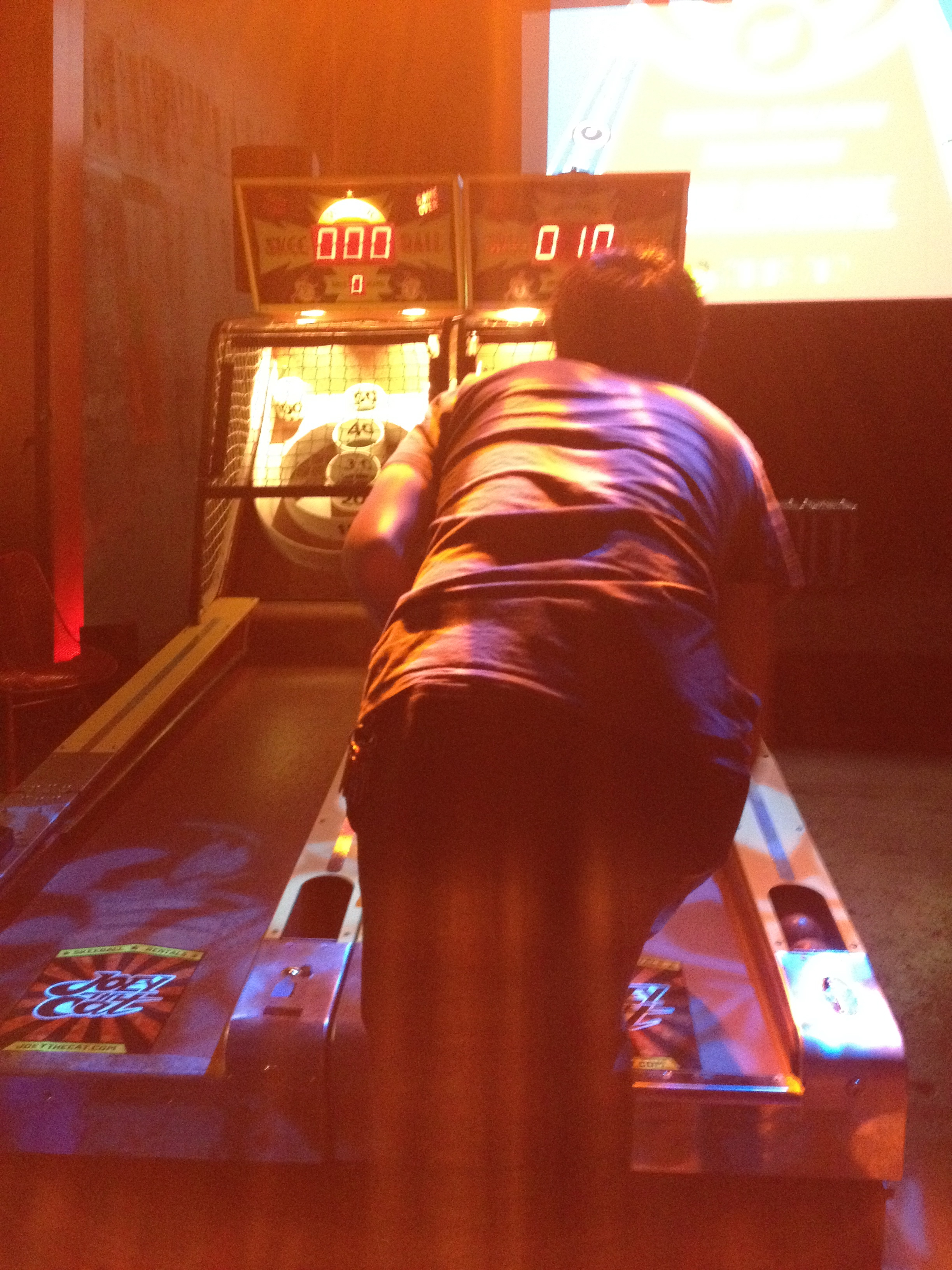 Skeeball tourney with Joey The Cat!