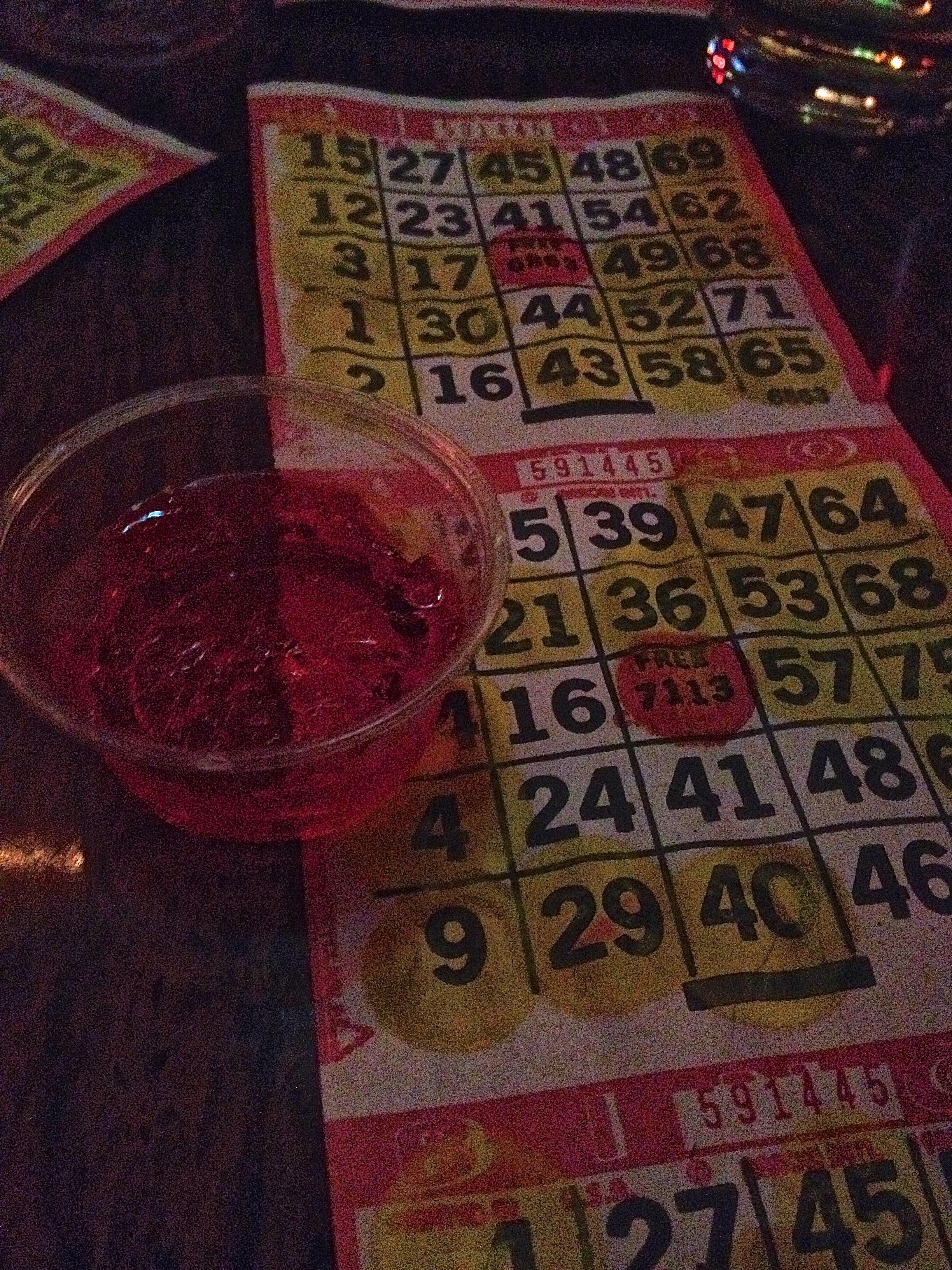 Saturday evening Bingo at Rip Tide!