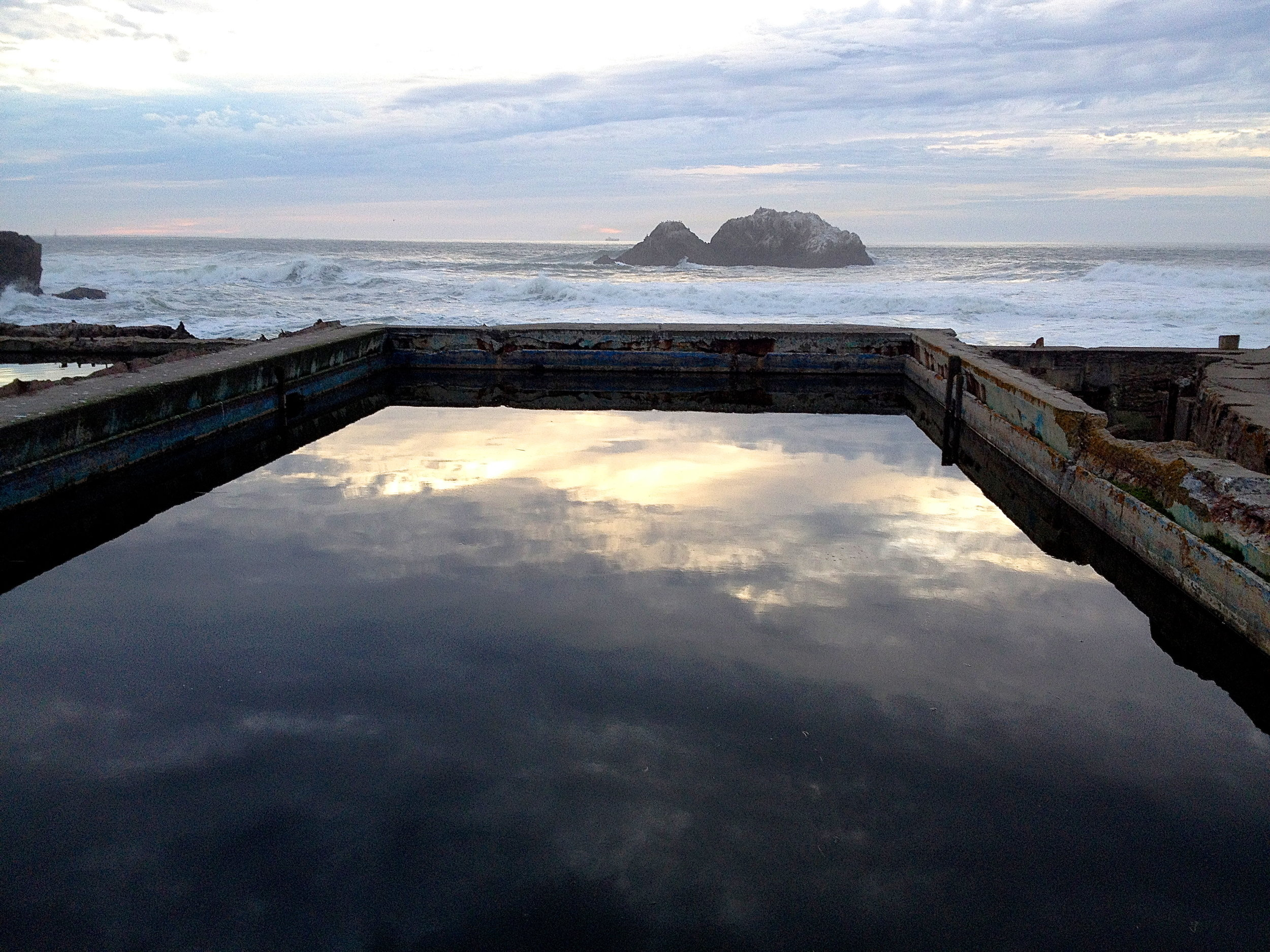 Sutro Baths reflections.