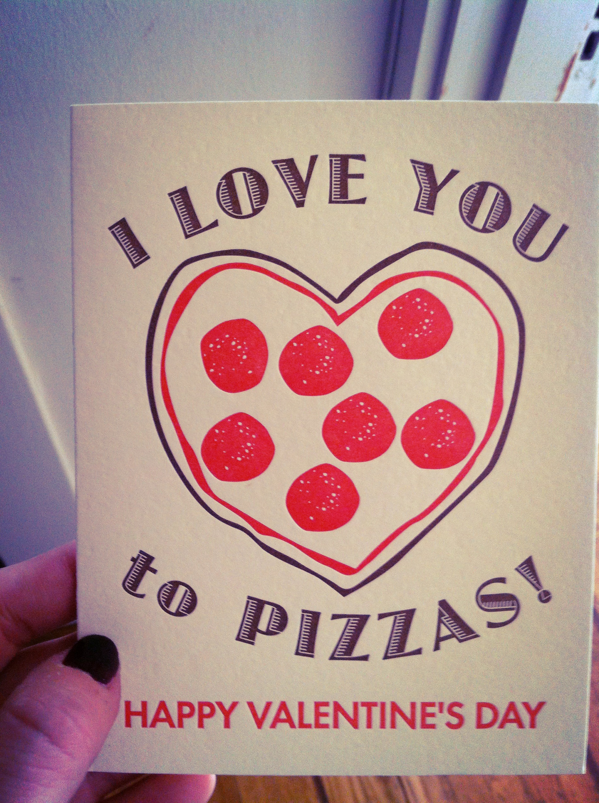 A Valentine's Day Card from my lurdy Emily!