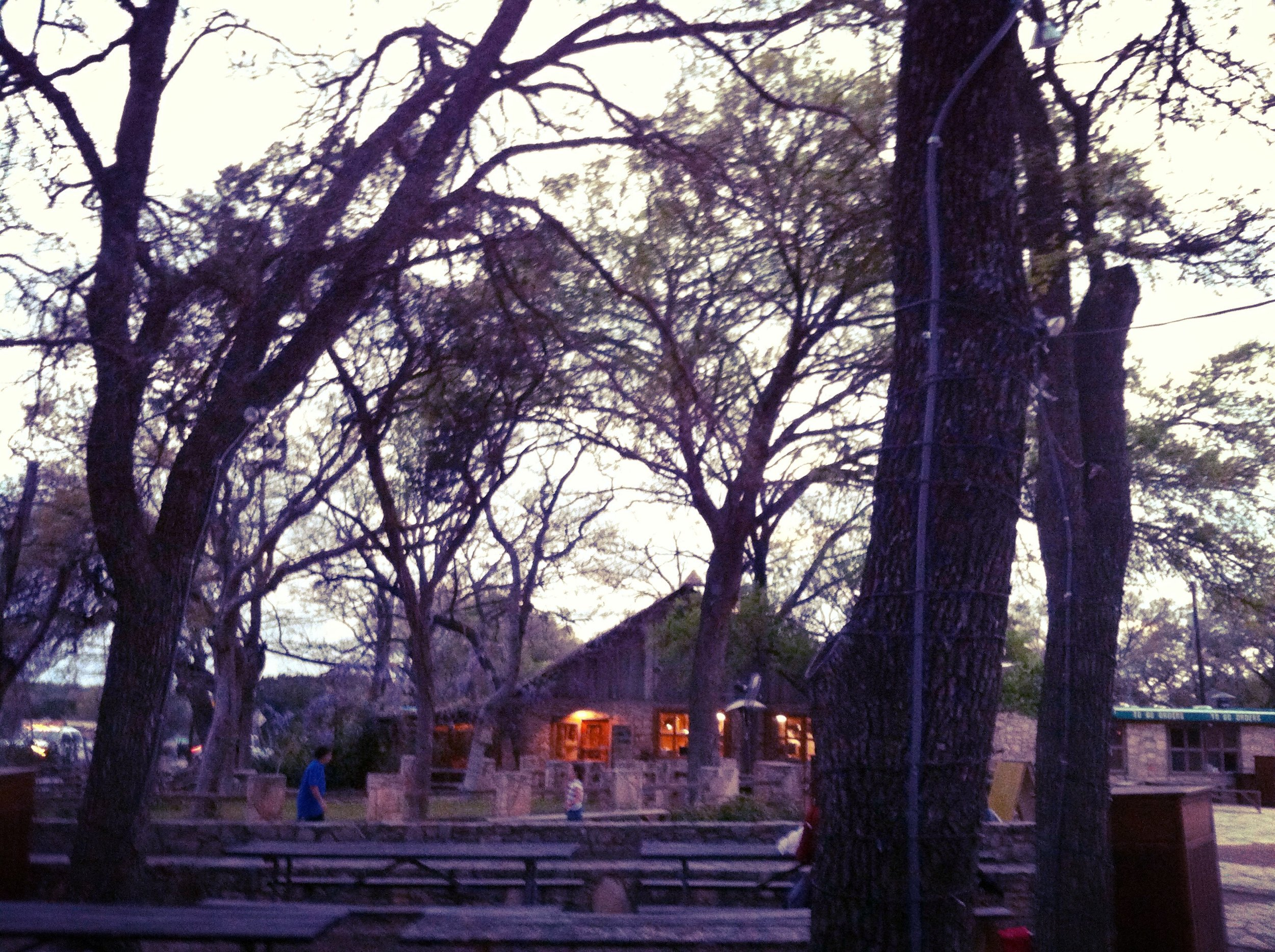 The outdoor area at The Salt Lick