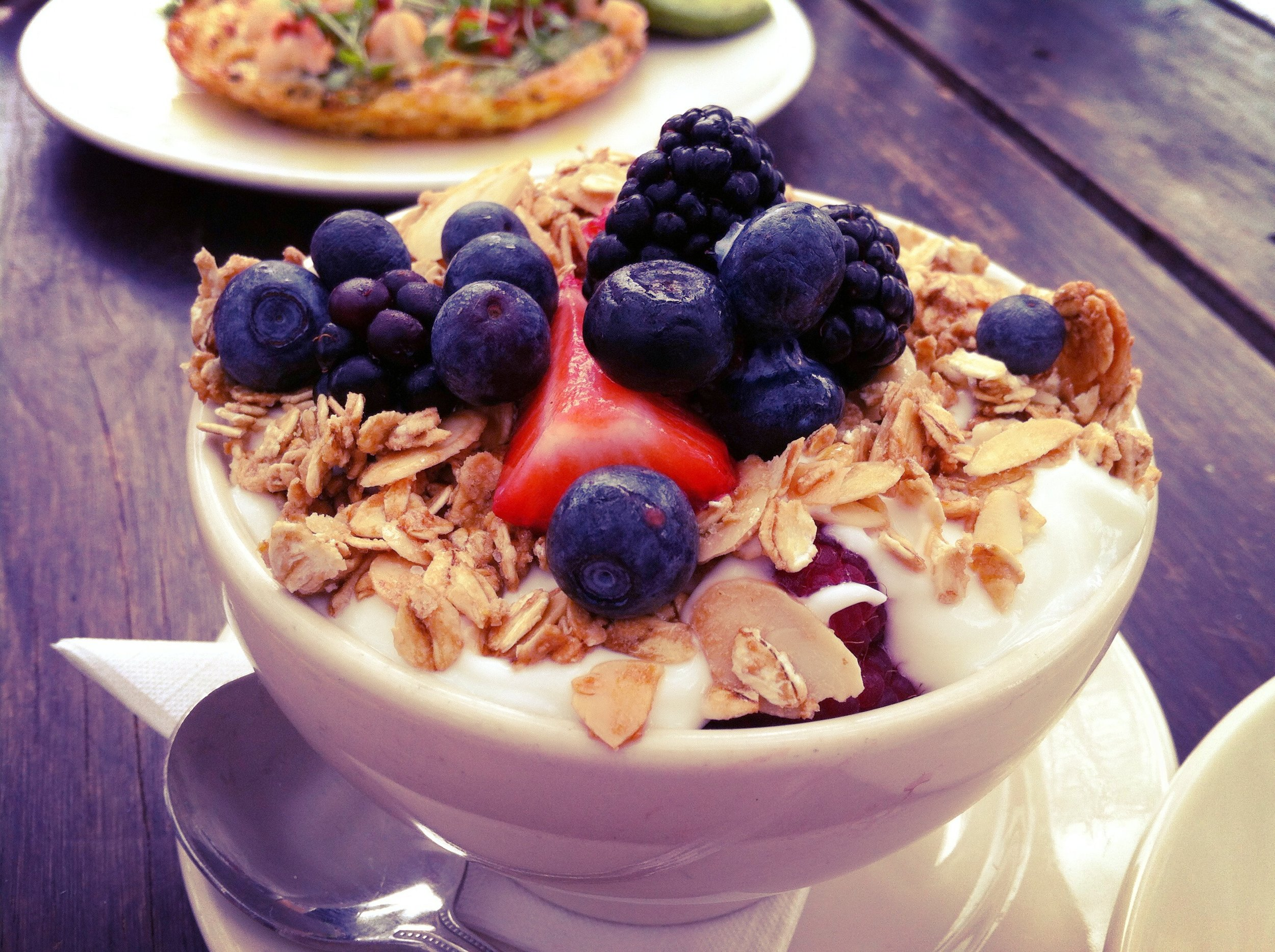 The most amazing yogurt and granola at Perla's