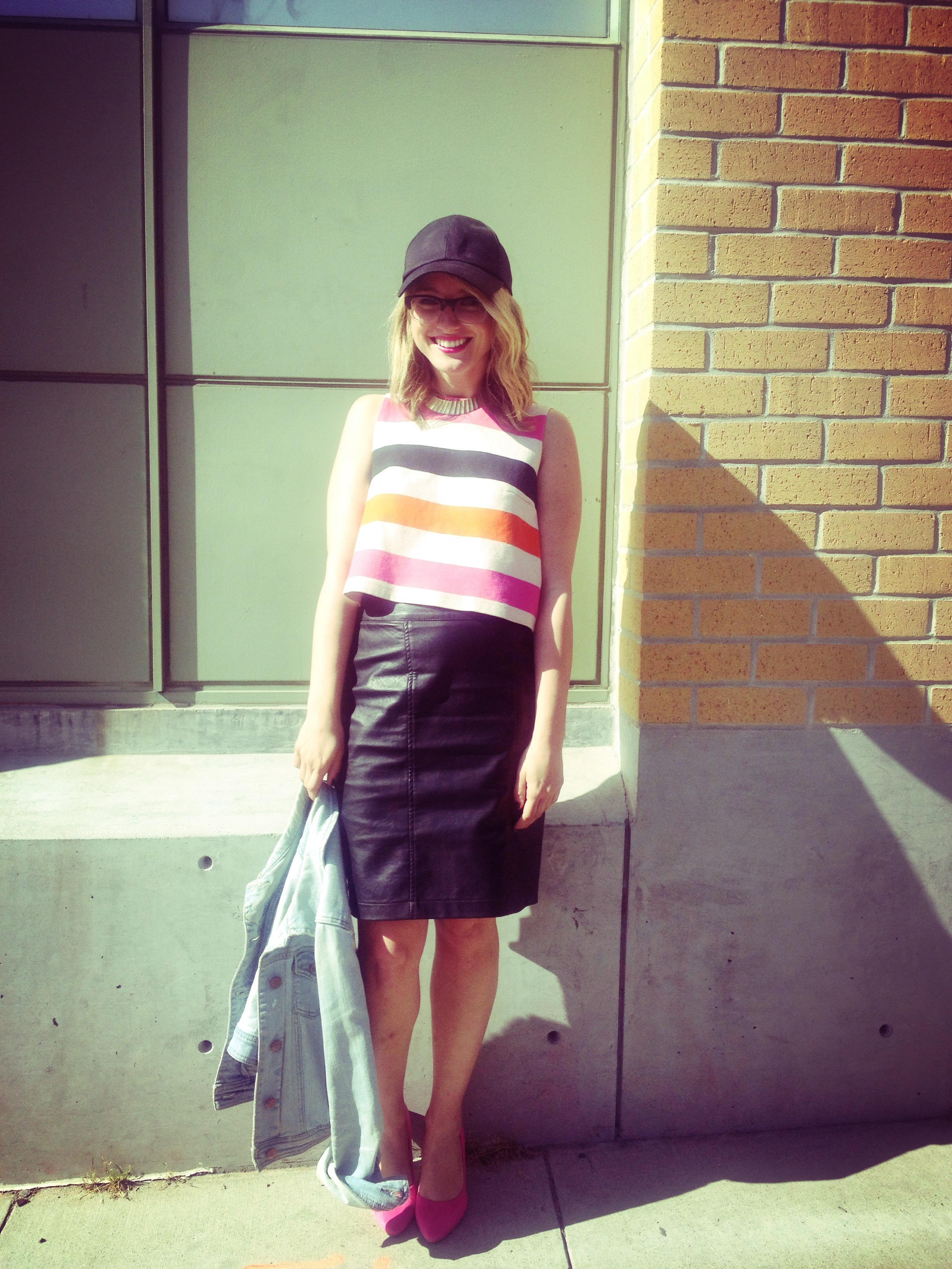Hat: H&M | Top: H&M | Skirt: F21 | Shoes: H&M