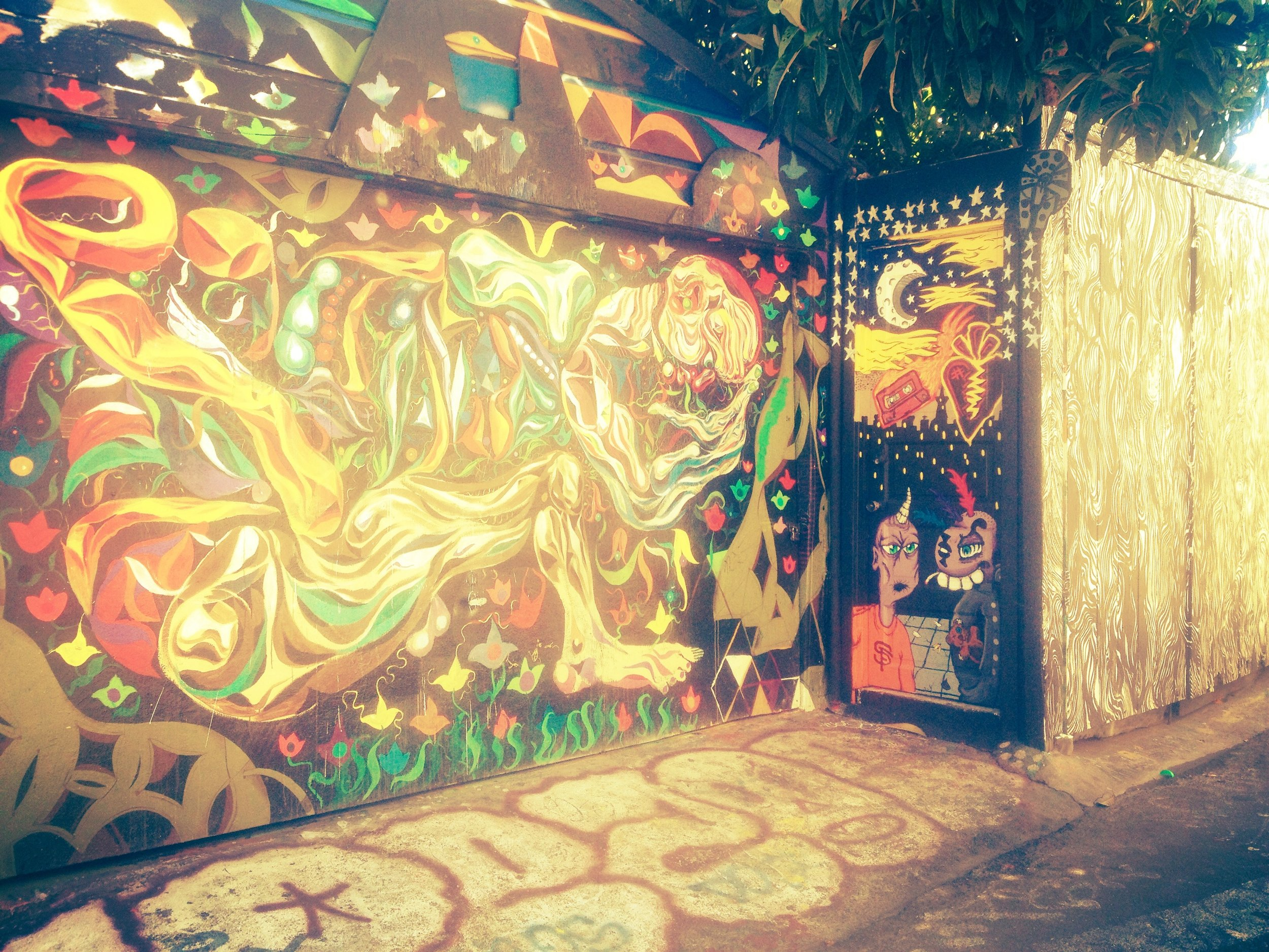 A little side street alley way art in the Mission