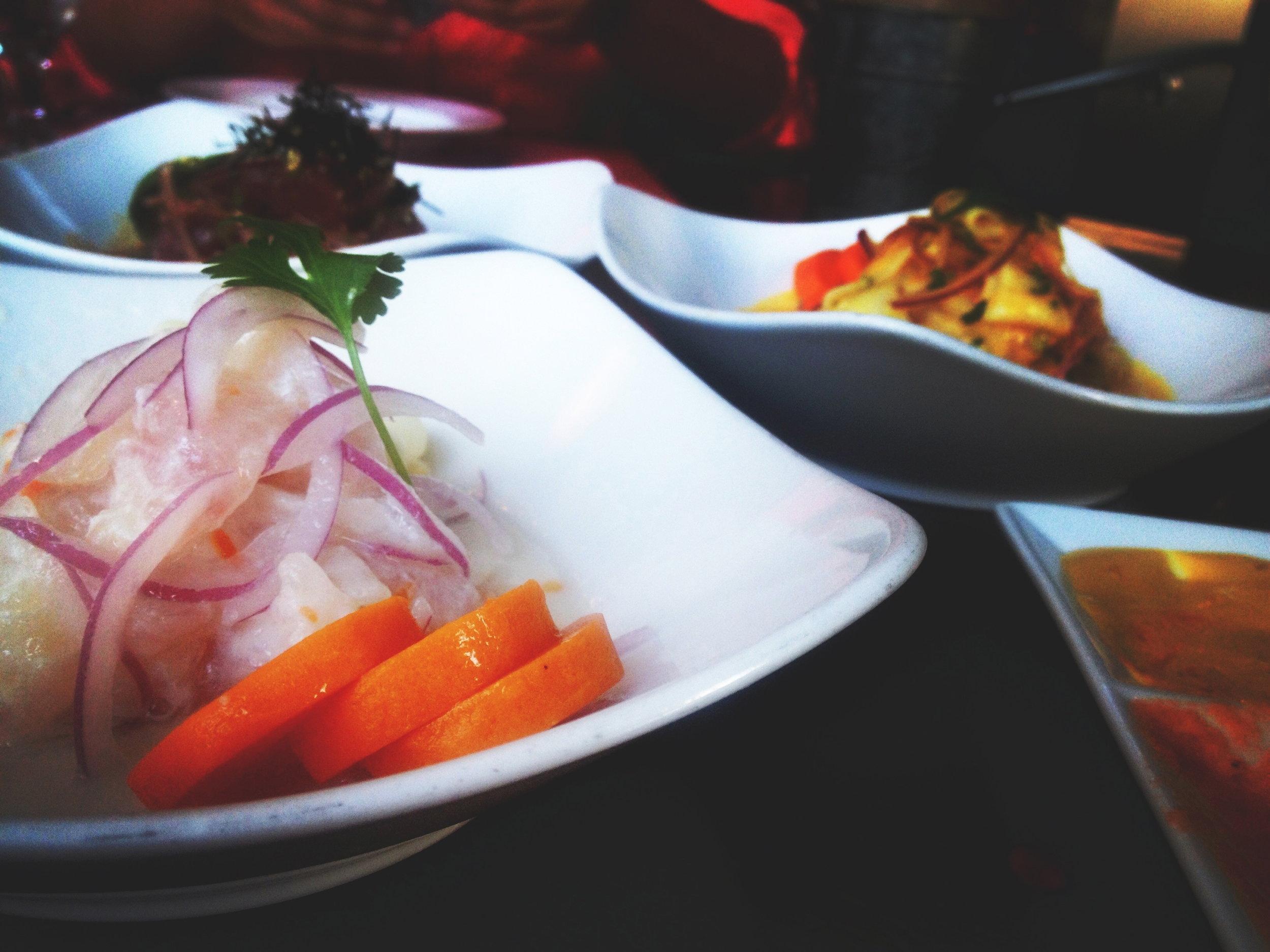 Delicious ceviche at La Mar!
