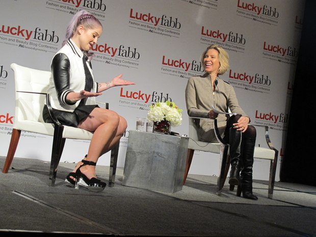 LuckyFabb Conference with Kelly Osborne and Brandon Holly. Photo via Lucky Magazine