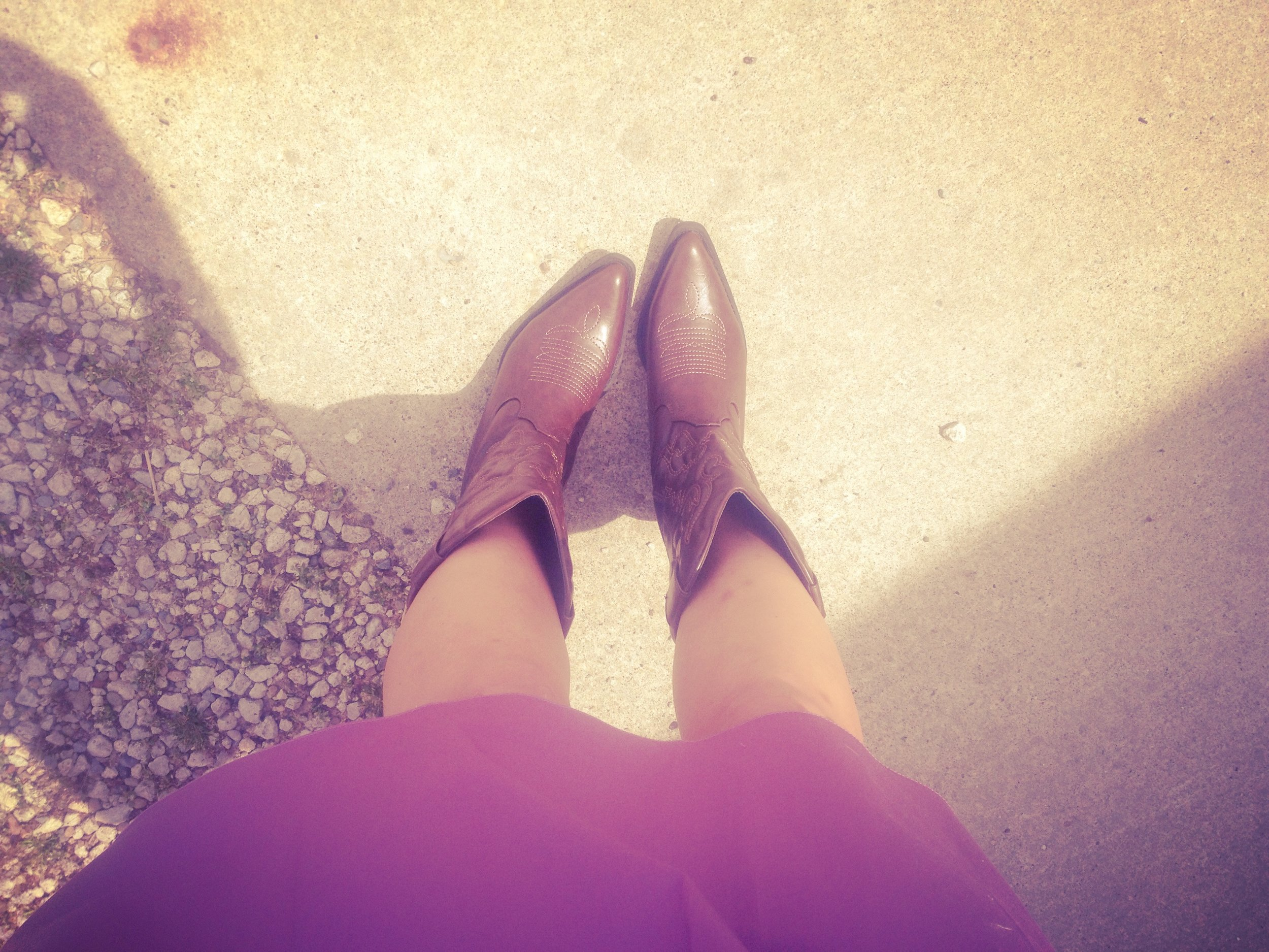 "These boots are made for walking. OR dancing to ""Save A Horse, Ride A Cowboy."" Trust me, I did both."