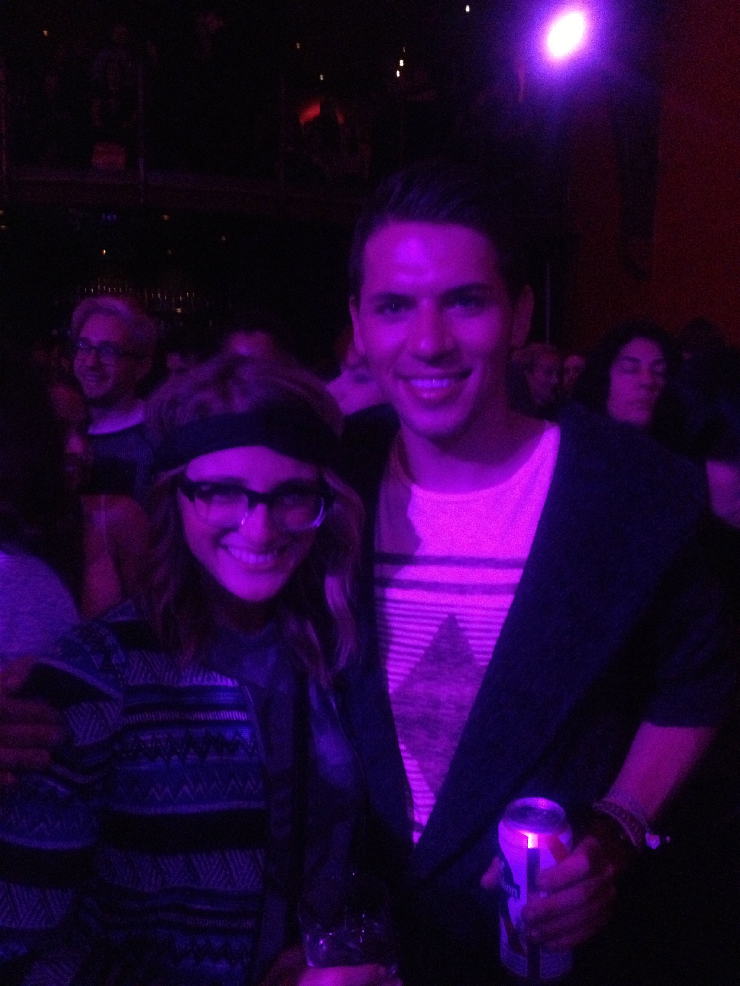 My lovely friend Michael and me at Kate Nash!