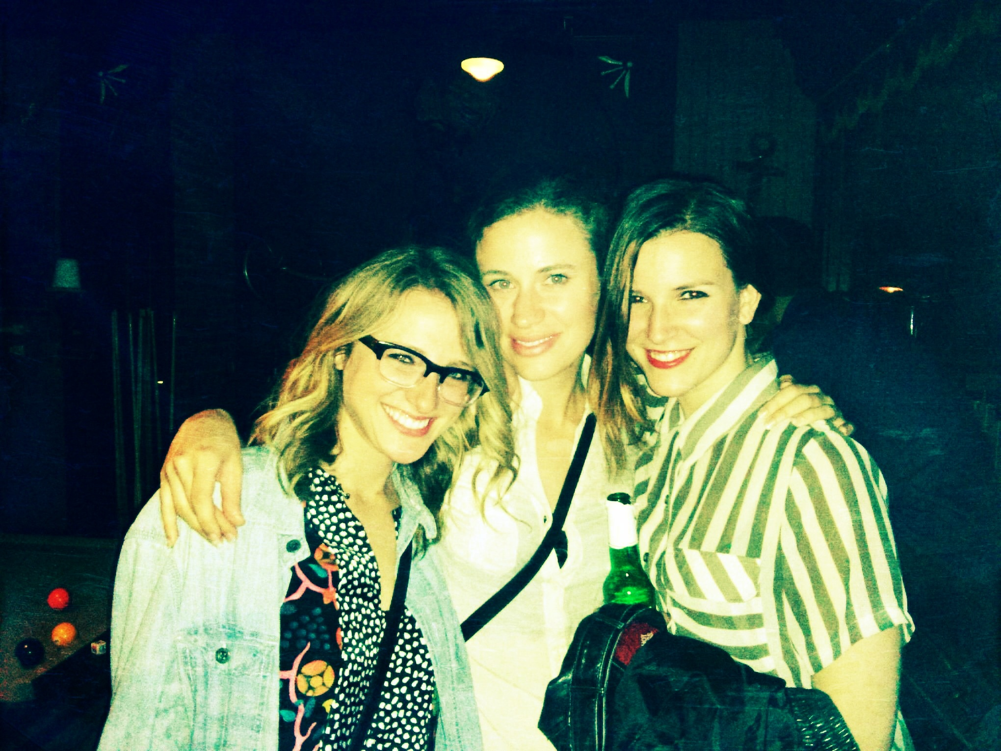 Lurdies night with my gals Sarah & Courtney.