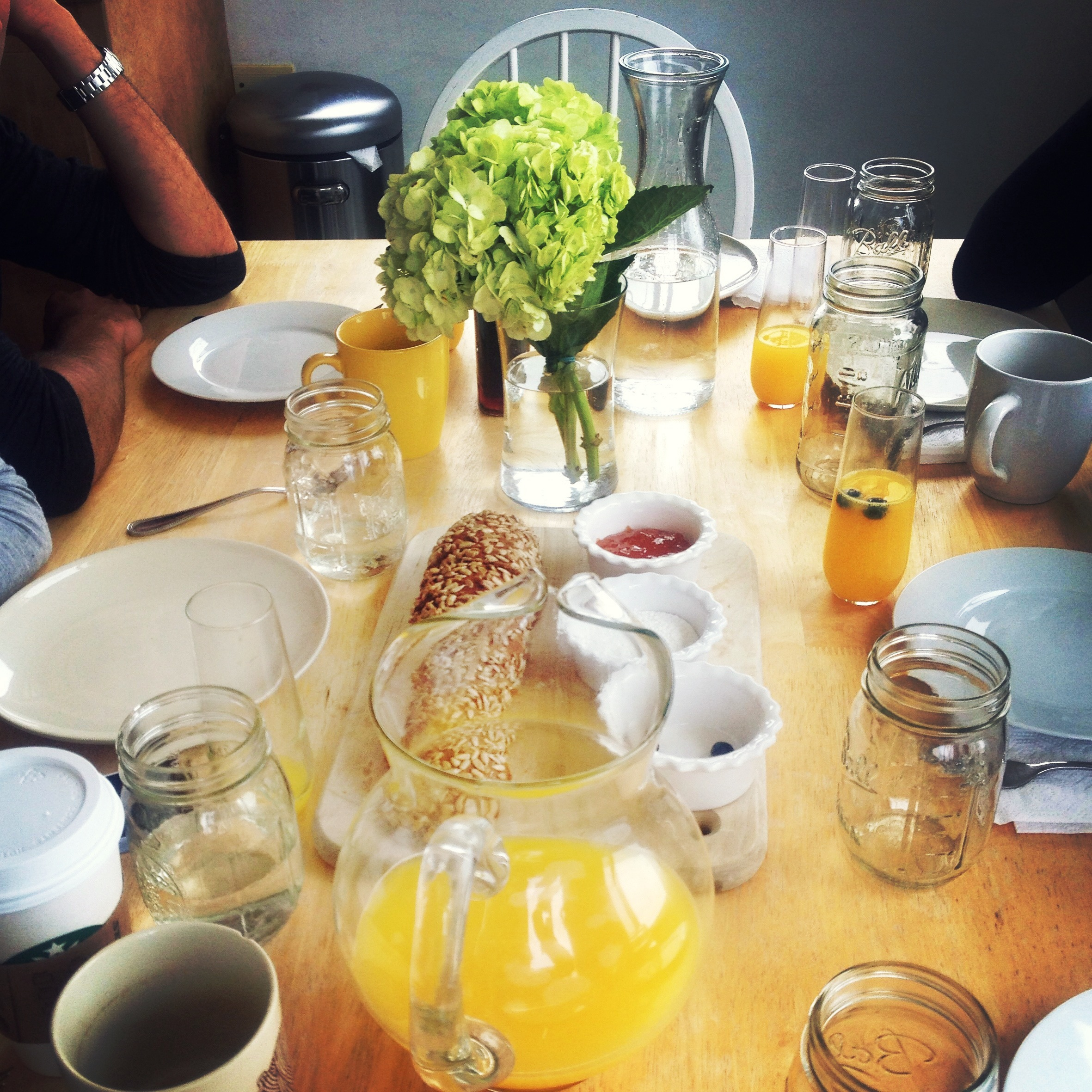 Amazing homemade brunch with new friends overlooking the city.