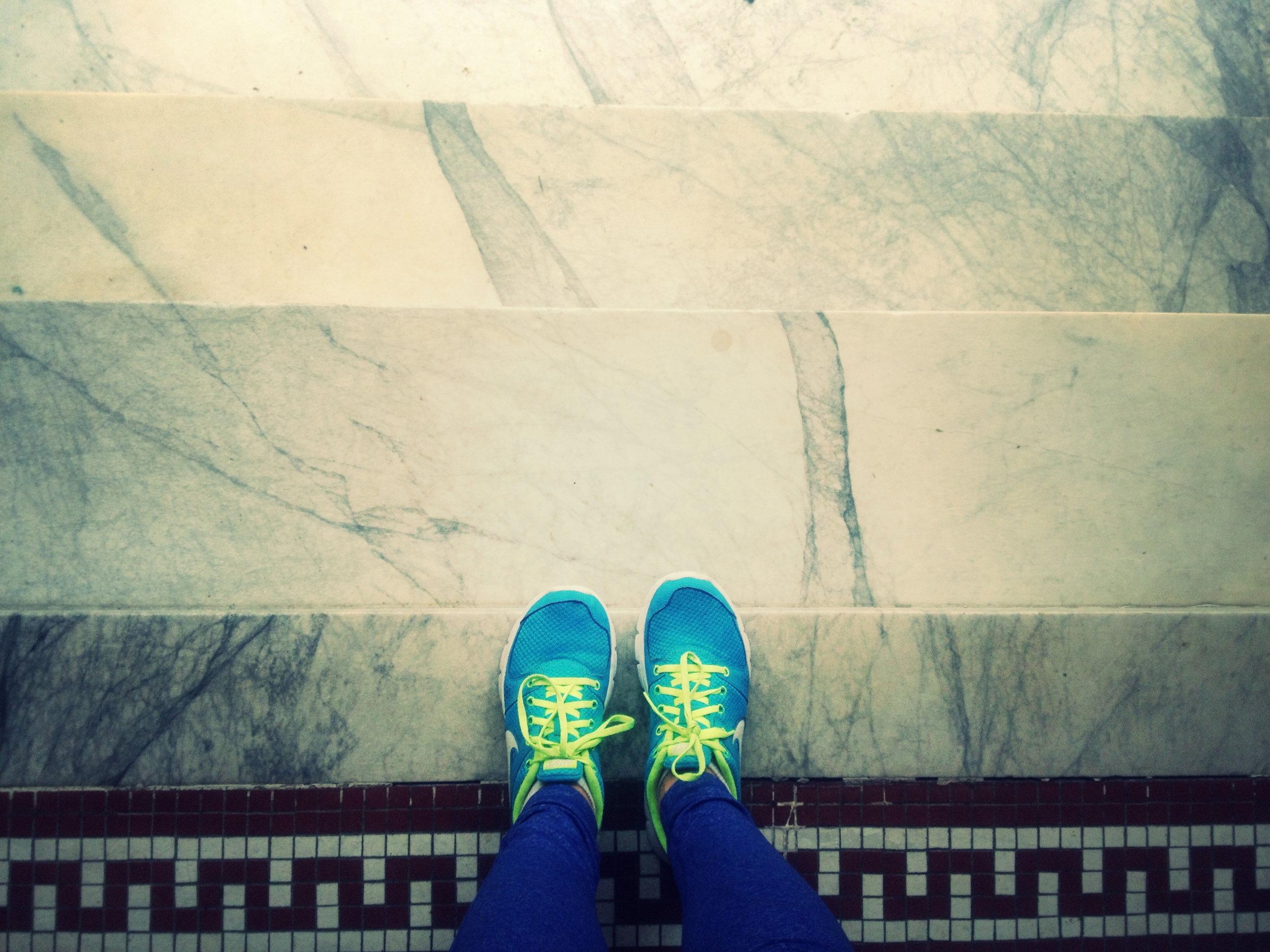 Somehow these Nike Lunarglides make running just a bit more enjoyable.