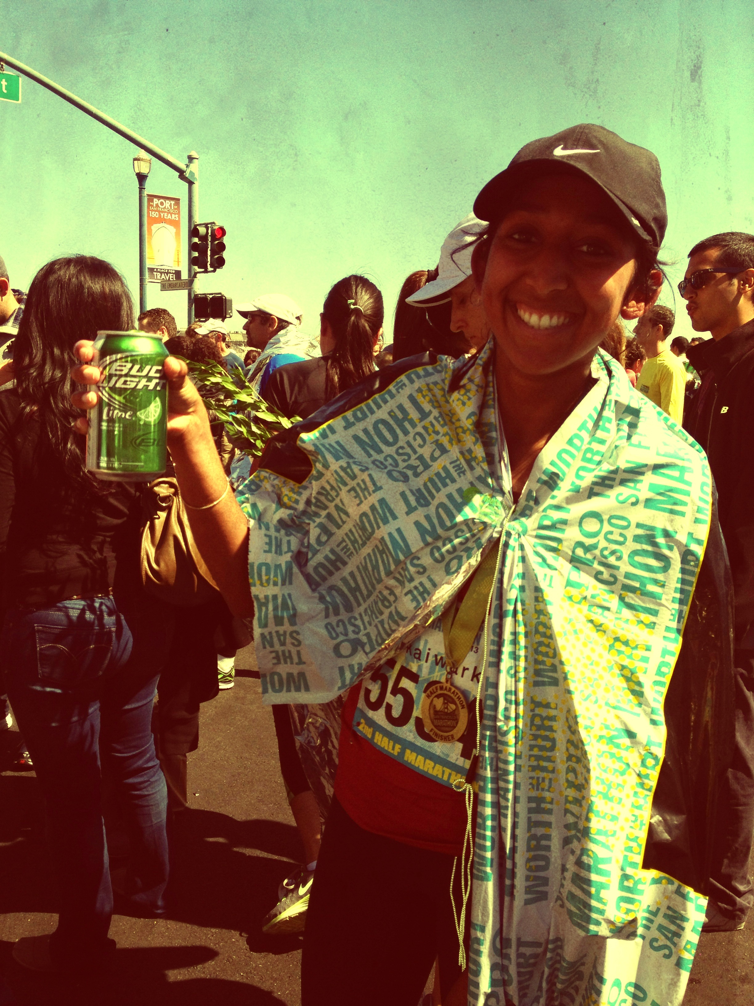 Congrats to my amazing friend Shikha on finishing the San Francisco Half Marathon ahead of her original time!
