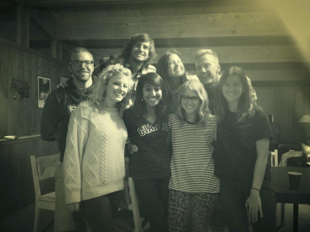 Crappy photo -- amazing crew.