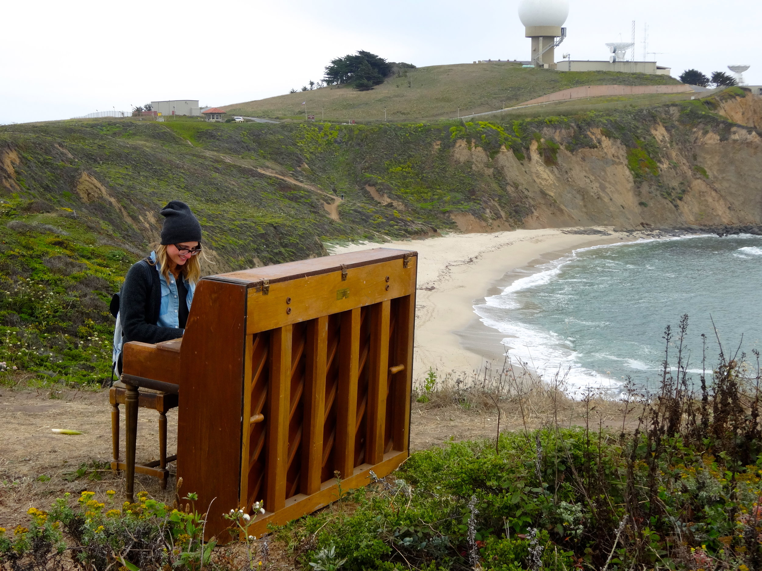 Just casually sitting. At a piano. That I can't play. On a cliff.