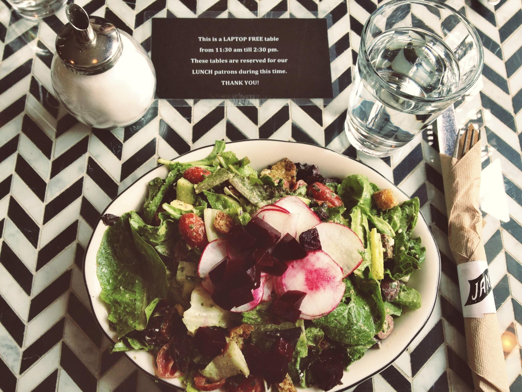 Delicious salad at Jane!
