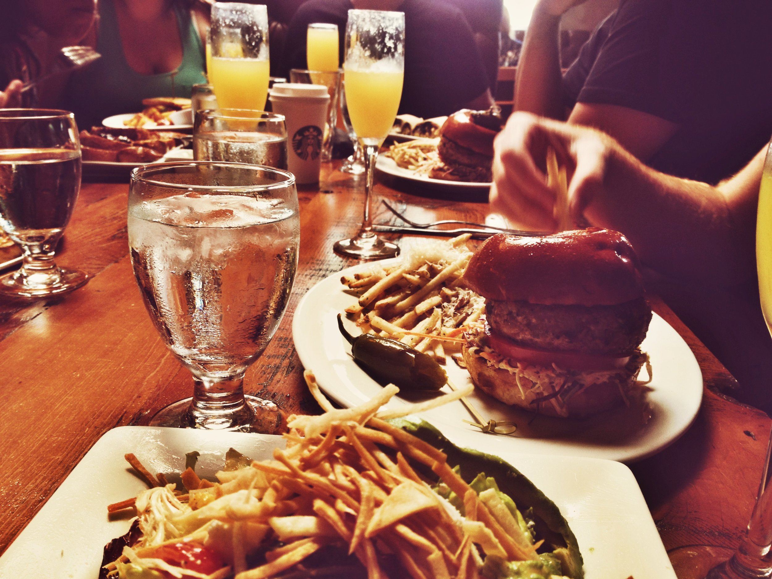 A boozy brunch at Brick + Mortar.