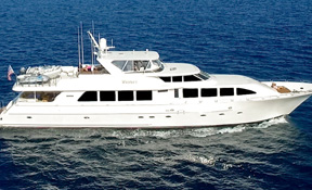 LENGTH: 112 ft. TYPE: Power CLEARING HOUSE: LuxuryDayCharters.com WEB SITE: www.luxurydaycharters.com