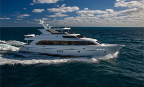 LENGTH:   101 ft.   TYPE:   Power   CLEARING HOUSE:   Hargrave Custom Yachts  WEB SITE :   www.hargravecustomyachts.com