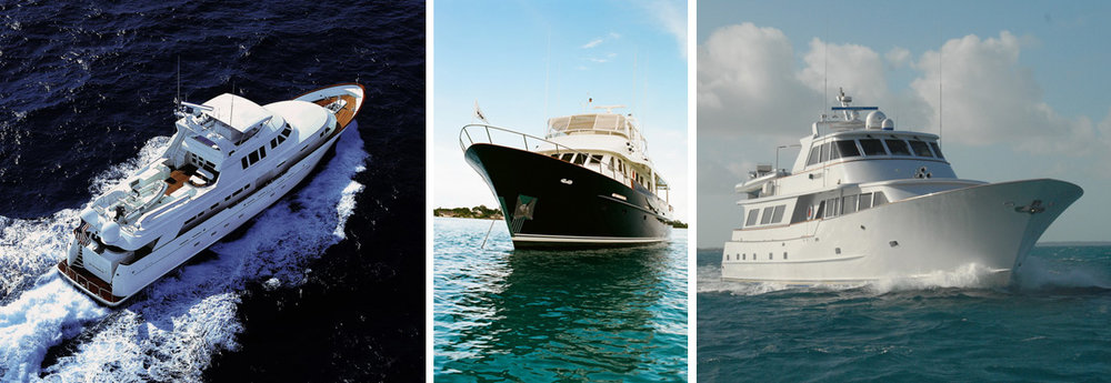 Neptune Yachting Group will show three luxurious motor vessels - Loose Ends, Grand Cru, and Kaleen  - at the Newport Charter Yacht Show.