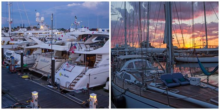 An array of both power and sailing yachts represented diverse chartering options at the 2017 Newport Charter Yacht Show presented by Helly Hansen. (photos by Jennifer Tinkoff) Click photo to download in high resolution