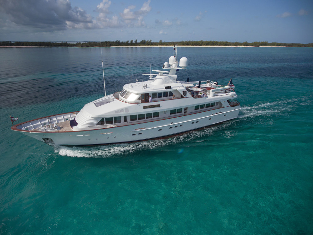 Pila Pexton of Merle Wood & Associates represents the 120' M/Y  Lady Victoria