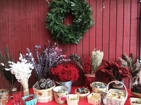 Just a glimpse at some of the crafting materials used at last year's wreath workshop.