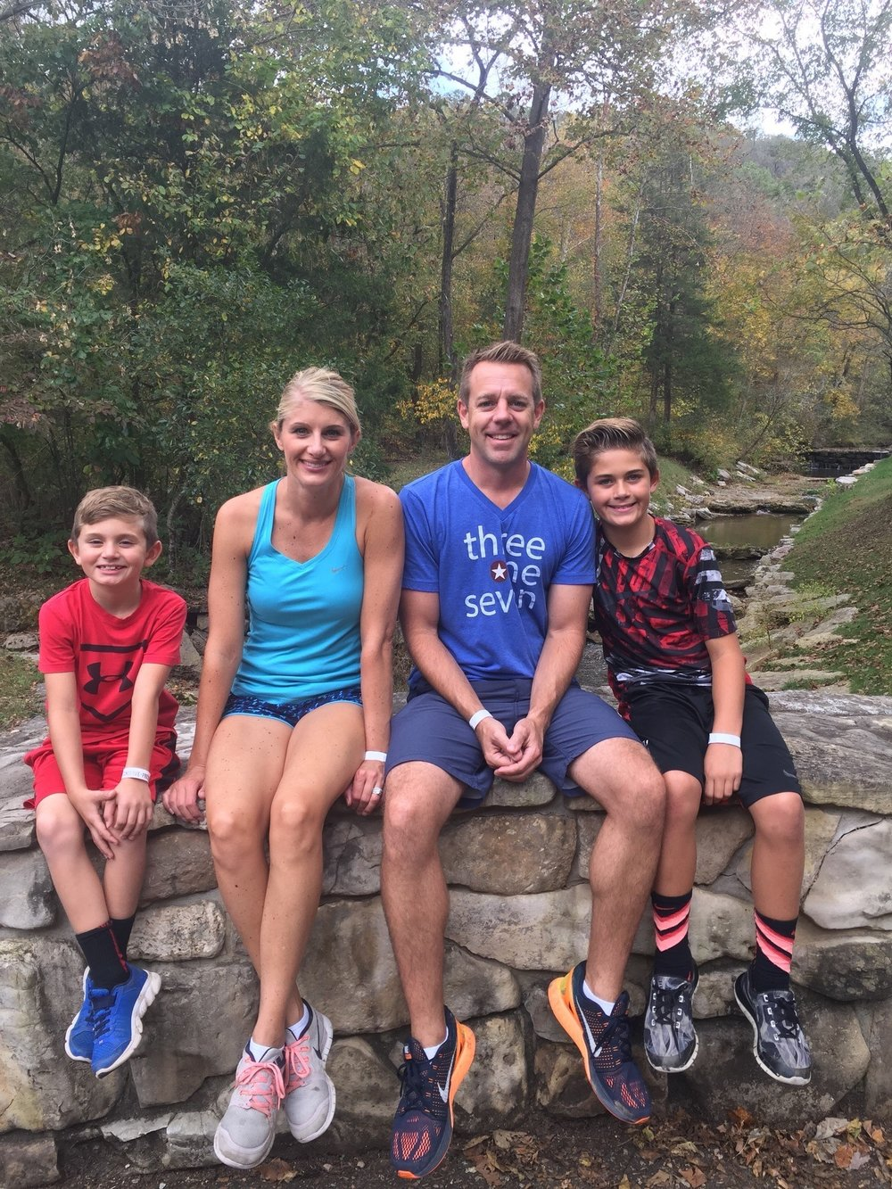 Steill family: Leyton, Lindsey, Justin, and Cohen
