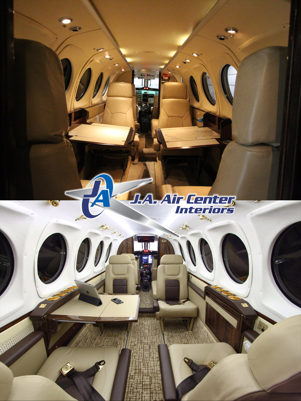 King Air 200 Before and After Interior Refurbishment