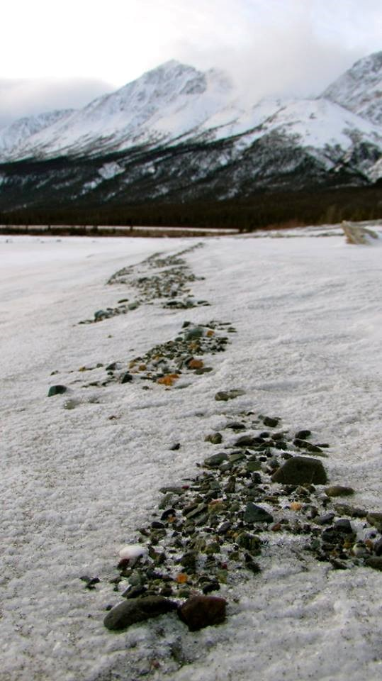 Frozen shores of Lake Kluane, YT