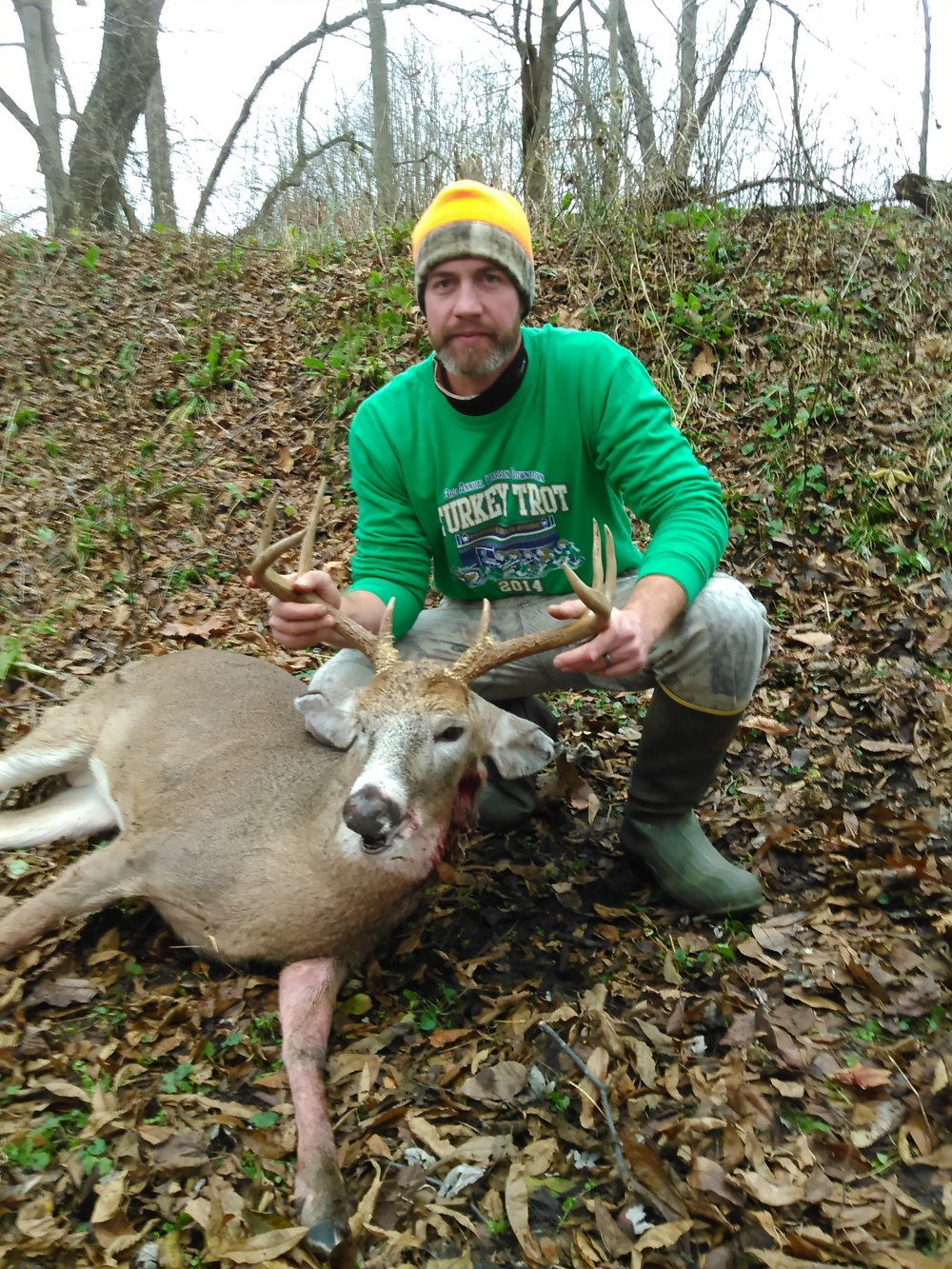 Dan holds another really nice public land buck that was taken by hunting islands.