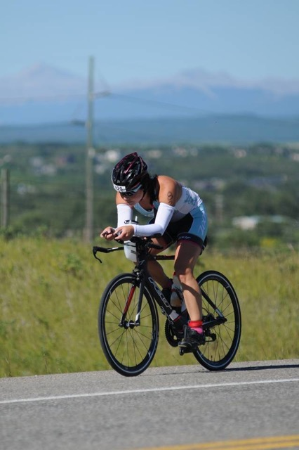 Yume Calgary 70.3 Triathlon Cycling on Bike