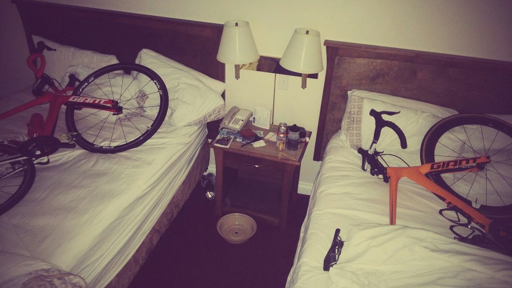 Even bikes need their beauty sleep!