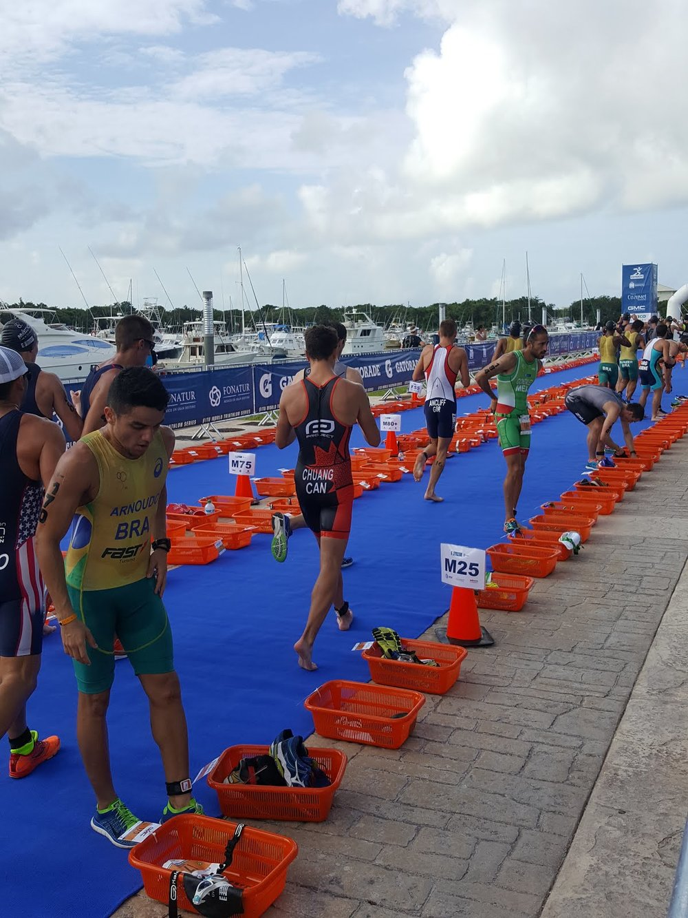 Tyler Chuang Aquathlon Cozumel Mexico ITU Age Group World Championships Swim Run