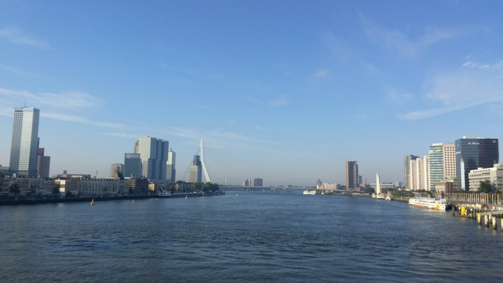 View from the age group bike course at World Championships Rotterdam Netherlands