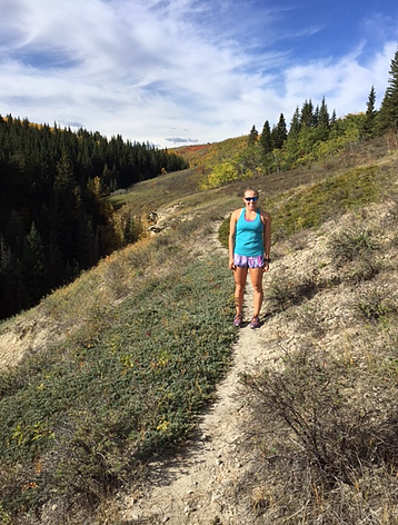 Trail Running in Calgary again with Catherine