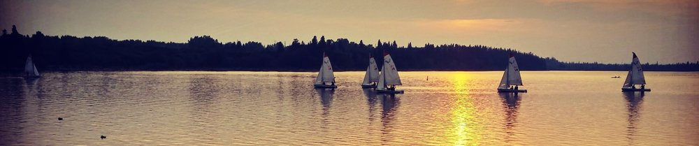 Sail Boats in the Lake on Bike Ride