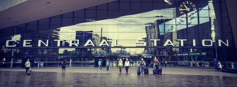 Centraal Train Station in Rotterdam Netherlands