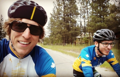 Cycling in Wasa with my brother