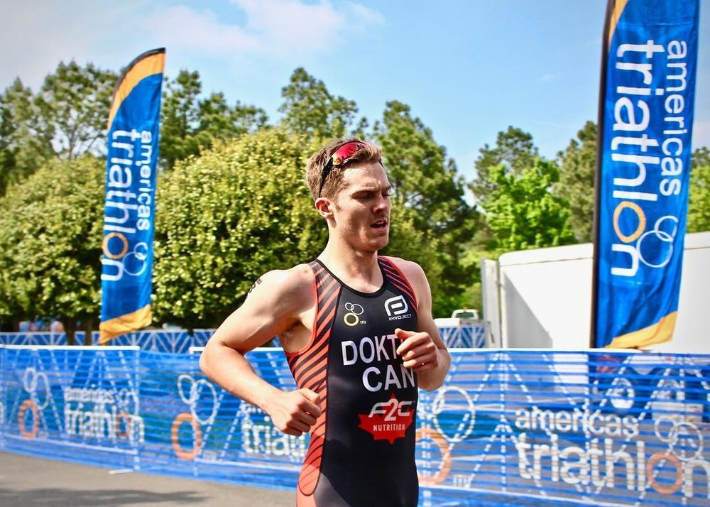 Eric Dokter Finishing CAMTRI Triathlon Race in Richmond Virginia