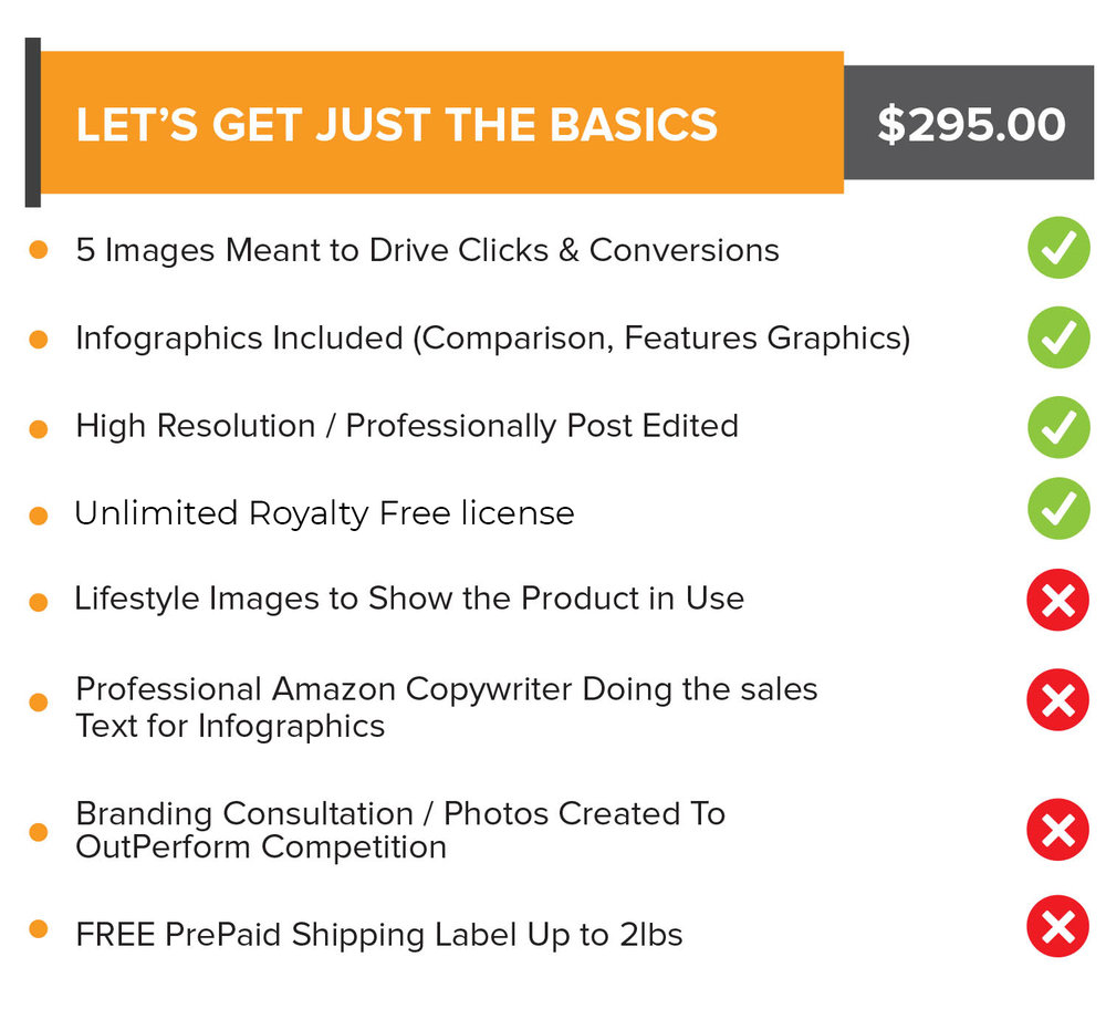 Let's Get Just the Basics - $295.00Any questions? Schedule a call with us now!