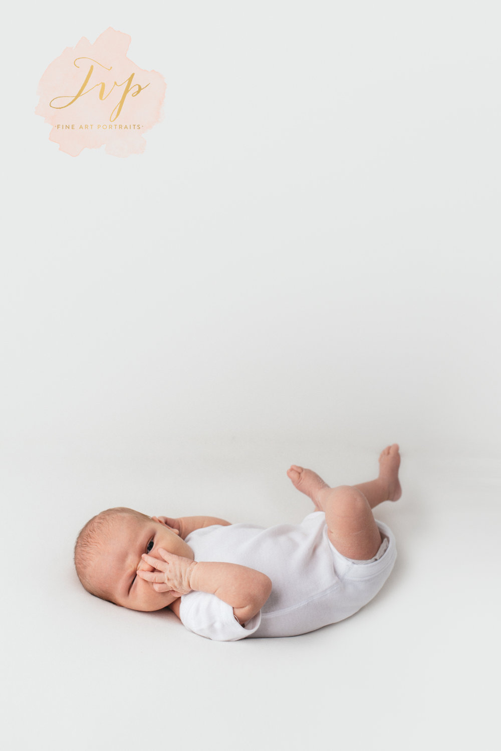 baby in white vest - newborn baby photos glasgow
