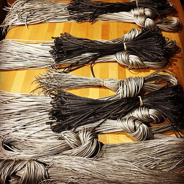 When the weather encourages you to be inside... in the midst of working on fulfilling a large holiday order. 120 hammocks, 120 suspension systems, 240 tree straps... my hands are tired, but audiobooks have saved my sanity. On hour 6 of 17 from 1491. #handmade #seattlemade #getoverland #hammock #diy #pnw @audible_com #audiobook #seattle #hammocking #craftsmanship