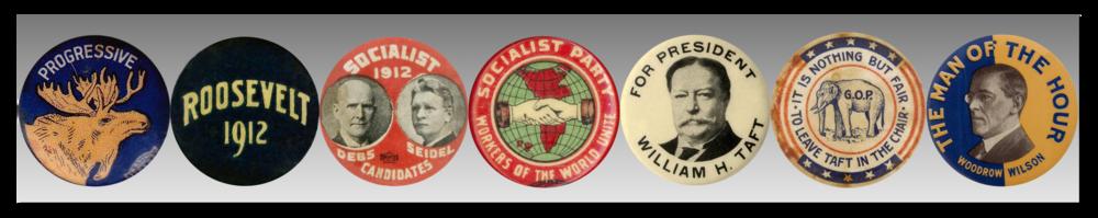 Political Buttons Banner