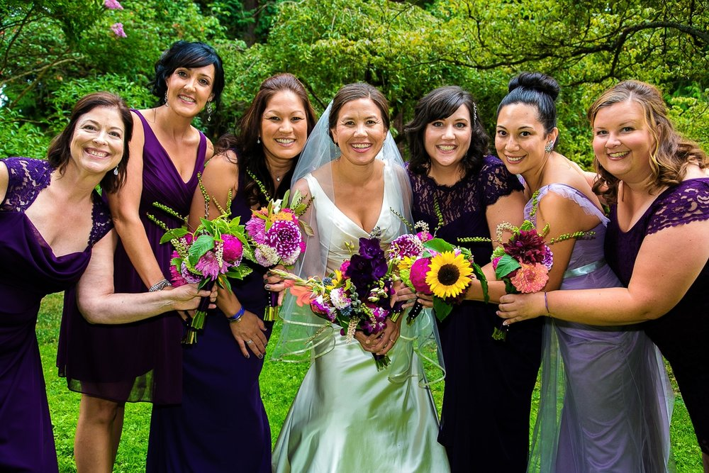 sarah and bridesmaids - mod bracelets (image by Karen Mason Blair)