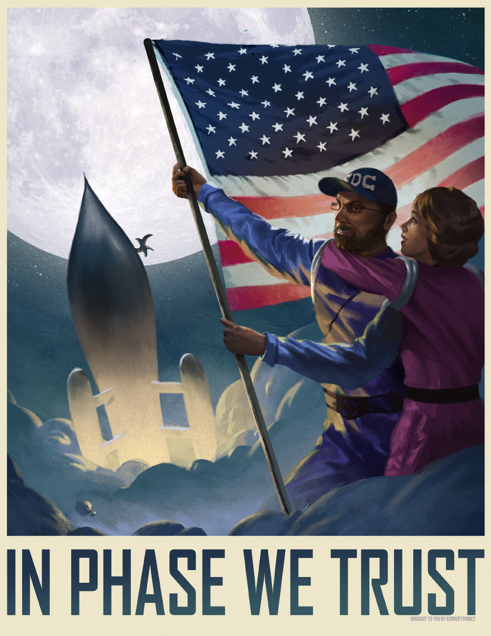 In Phase We Trust by  Steve Stark.   https://i-stark.com/illustration/   Inspired by a Dreamchaser Session with the We Hate Bards Podcast.