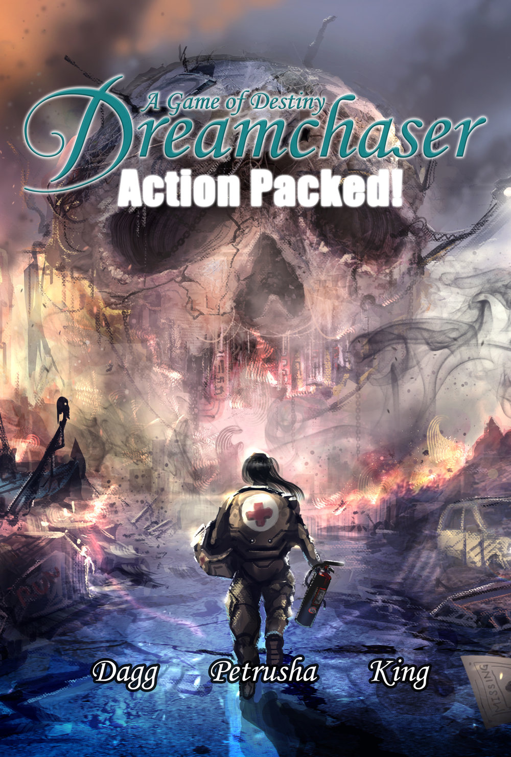 The Front Cover of  Dreamchaser: Action Packed! (PDF Supplement)